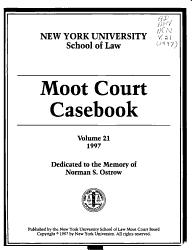 Moot Court Casebook Book PDF