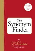 The Synonym Finder PDF