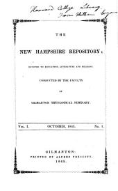 The New Hampshire Repository: Volumes 1-2