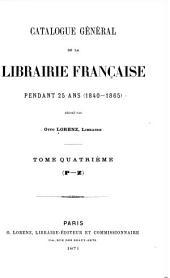 Catalogue général de la librairie française: 1840-1865