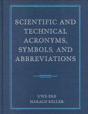 Scientific and Technical Acronyms  Symbols  and Abbreviations PDF
