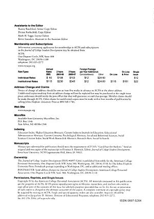 Journal of College Student Development PDF