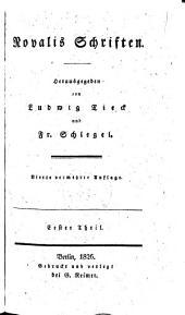 """""""Novalis"""" Schriften: Herausgegeben von Ludwig Tieck und Fr. Schlegel"""