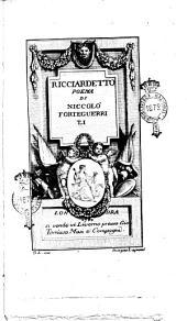 Ricciardetto Poema di Niccolo Forteguerri