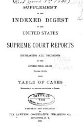 Supplement to the Indexed Digest of the United States Supreme Court Reports Embracing All Decisions of the October Terms, 1886-1888, Volumes 119-131, with & to Page of Digest