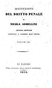 Istituzioni del dritto penale di Nicola Armellini: 3