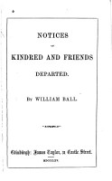 Notices of Kindred and Friends Departed PDF