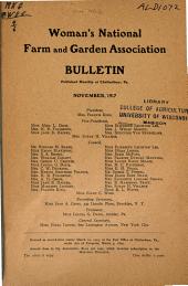 Woman's National Farm and Garden Association Bulletin