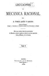 Lecciones de mecánica racional: Volumen 2