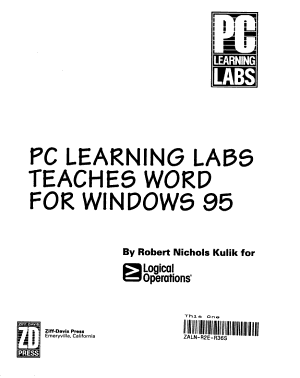 PC Learning Labs Teaches Word for Windows 95 PDF