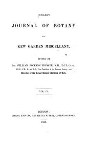 Hooker's Journal of Botany and Kew Garden Miscellany: Volume 4