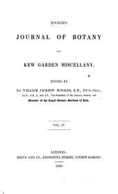 Hooker's Journal of Botany and Kew Garden Miscellany: Volume 4