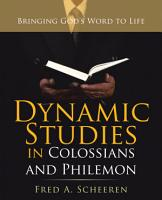 Dynamic Studies in Colossians and Philemon PDF