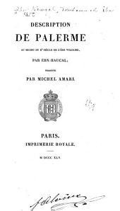 Description de Palerme au milieu du Xe siècle de l'ère vulgaire