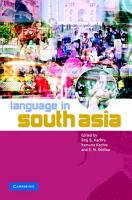 Language in South Asia PDF