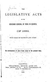 A Collection of the Acts of the Central Legislature and Ordinances of the Governor General