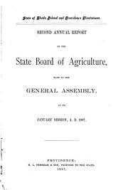 ... Annual Report of the State Board of Agriculture, Made to the General Assembly at Its ... Session, ...: Volume 2