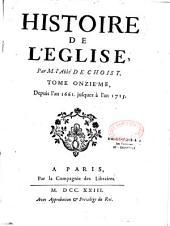 Histoire de l'Eglise, par l'abbé de Choisy,...