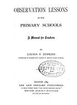 Observation Lessons in the Primary Schools