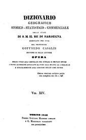Dizionario geografico, storico, statistico, commerciale degli stati di S.M. il re di Sardegna: Volume 14