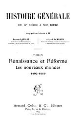 Rénaissance et réforme, les nouveaux mondes, 1492-1559