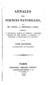 Annales des sciences naturelles: Volumes15à16