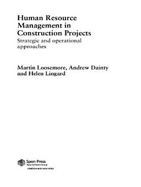 Human Resource Management in Construction Projects PDF