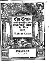 Ein Sendbrieff von Dolmetschen und Fürbitt der Heiligen