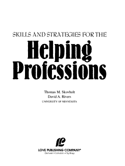 Skills and Strategies for the Helping Professions PDF