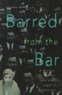 Barred From The Bar Book PDF