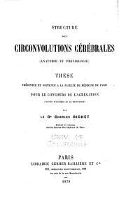 Structure des circonvolutions cérébrales: (anatomie et physiologie) ...