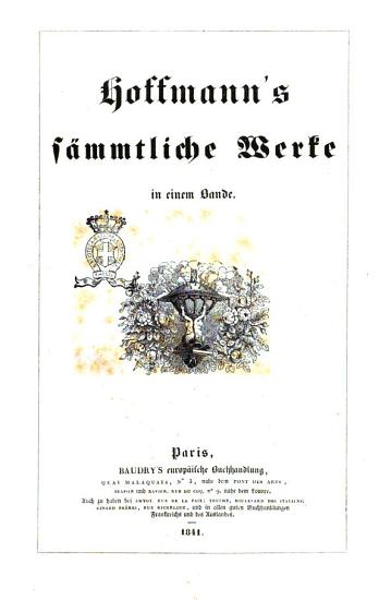 Hoffman s Sammtliche Werke PDF