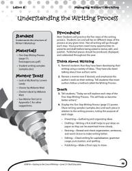 Writing Lesson Level 2 Understanding The Writing Process Book PDF