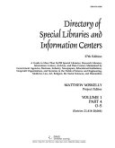 Directory of Special Libraries and Information Centers PDF