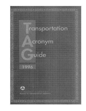 Transportation Acronym Guide PDF