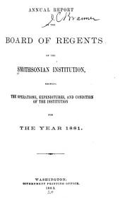 Report of the Board of Regents: Volume 1881