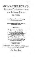 Monasteriorum Germaniae praecipuorum ac maxime illustrium centuria prima PDF