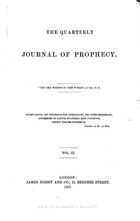 The Quarterly Journal of Prophecy PDF