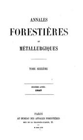Annales forestières: Volume16