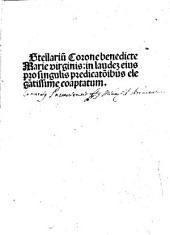 Stellarium Coronae benedicte Marie Virginis