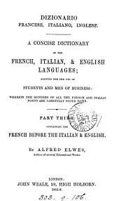 DIZIONARIO  FRANCESE, ITALIANO, INGLESE
