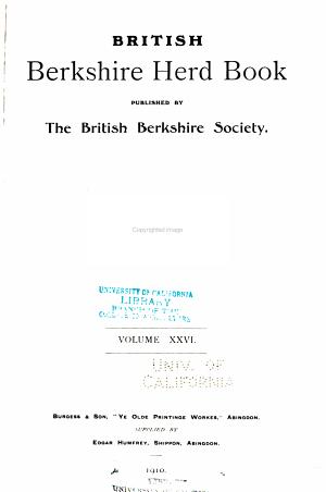 British Berkshire Herd Book