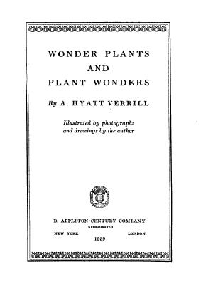 Wonder plants and plant wonders