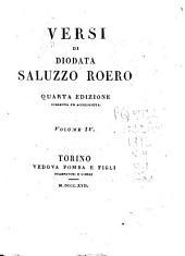 Versi di Diodata Saluzzo Roero: Volume 4