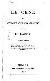 Le cene di Antonfrancesco Grazzini detto Il Lasca: Volume 19