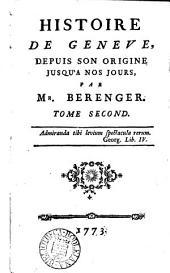 Histoire de Genève, depuis son origine jusqu'à nos jours