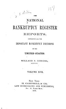 The National Bankruptcy Register Reports PDF