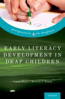 Early Literacy Development in Deaf Children PDF