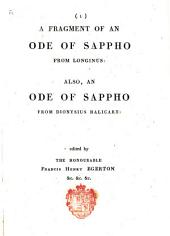 A Fragment of an Ode of Sappho from Longinus