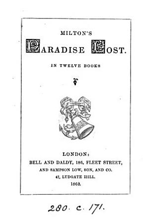 Milton s Paradise lost  pr  from the text of mr  Keightley s library ed    PDF